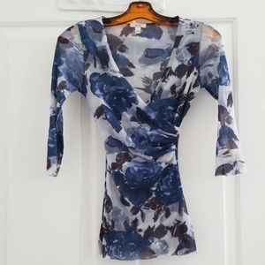 Cache 3/4 sleeve blouse